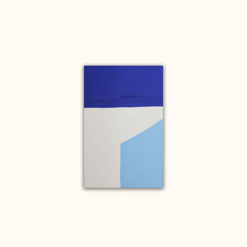 Géometrie 1 - toile bleu impérial