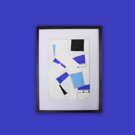 collage bleu impérial